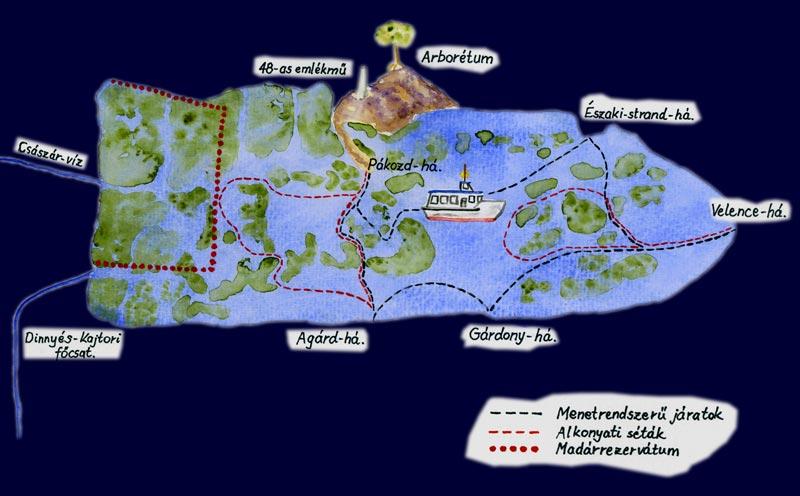 velencei tó szabadstrand térkép Hajó menetrend Velencei tó   Velenceikistérség.hu velencei tó szabadstrand térkép